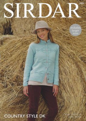 Sirdar Country Style DK - 7829 Jacket Knitting Pattern